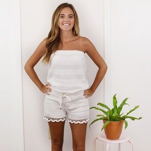 Lilly Pulitzer white lace romper! Size medium